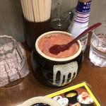 餃子と牛たん 居酒屋おおとら - テーブルの辛子明太子