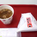 めんたいパーク - おにぎりと味噌汁のセット