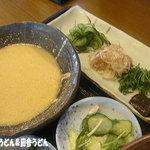 手打麺THE・うどん 大 - 2011年7月 冷汁と薬味