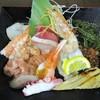 にほんのうみ - 料理写真:特上海鮮丼ランチ 1,600円(税込)の 海鮮14種 盛り合わせ。      2018.06.02