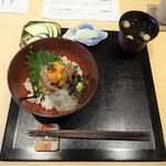 87052303 - ランチ:天然真鯛、ウニ昆布締め、白魚の爆弾丼