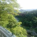 ローズタウンティーガーデン - テラスから見える景色
