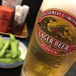 和泉屋 - 生ビールにお通し