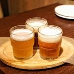 Via Lucca イタリアン&クラフトビール - ■生樽ビール飲み比べ 180ml 3杯 1380円