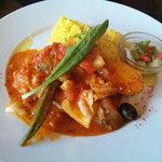 8706513 - 若鶏と野菜のトマトソース煮込+ライス(980円)