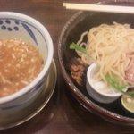 つけ麺 三代目みさわ - チャーシューつけ麺(950円)-少し食してしまいました