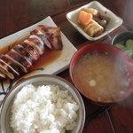 食堂いるか - いか焼き定食 800円 (2011.7)