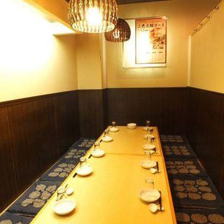 高級感溢れる落ち着いた空間。~10名様個室完備。