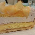 87072548 - 桃とチーズのタルト