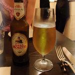 ピッツェリア ロマーナ ジャニコロ - イタリアのビール「Moretti」