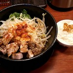 87082429 - 「背脂醤油まぜそば(麺量180g)(〆飯付)」