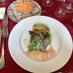 マーヴェラス パラディ - 北海道産ホタテのマリネと野菜のテリーヌ