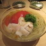 汐見 - 「トマト蕎麦」(蛤入り)