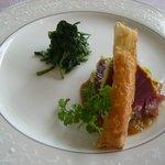 アイシン精機 ビレッジ高倉レストラン - 前菜②カツオのパン粉焼き タマネギソース
