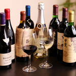 白金ビーフ - 厳選したワインの数々