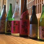 個室 ふくしま 炉談 - 季節の地酒常時20種類はご用意。