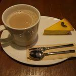 サンクサンク - かぼちゃチーズケーキとカフェオレ