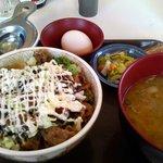 すき家 - お好み牛玉丼豚汁セット