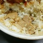 戦国食堂 - ご飯の中に豚ロースが!