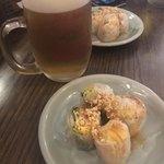 87100486 - Aセット 生春巻き ¥200×2                       生ビール ¥580