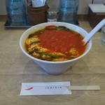 辛麺屋一輪 - トマト辛麺(並盛り)
