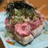 比内地鶏本格焼酎 海舟 - 料理写真:2018.6 ササミネギトロ串(250円)
