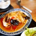 お粥家 粥 粥 - 白身魚の甘酢炒め
