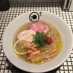Mendokorojanomeya - 地鶏 鮭節 鰆出汁 冷やし塩らぁめん