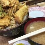 豊野丼 - 海鮮丼 大盛りと味噌汁
