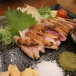 炭火焼料理専門店 和元 - 大和肉鶏もも肉たたきステーキ