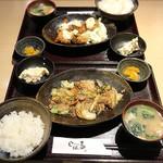 食楽酒場じばる - 豚肉と野菜のスタミナ炒め定食(ご飯少なめ)¥680 / チキン南蛮定食 ¥650