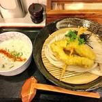 荒木伝次郎 - 料理写真:海老白湯つけ麺
