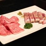 神戸牛・個室焼肉 大長今 - ☆神戸牛サーロイン 3780円と神戸牛焼きしゃぶ 2786円