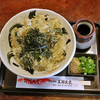 五郎太夫 - 料理写真:しらすとわかめのかき揚げうどん(冷)