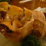 炉ばた焼大鳳 - つぶ貝刺:コリコリで旨かった