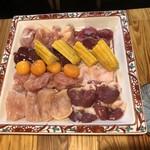 鶏焼肉東京 - ○お奨めの7点盛り 1,980円