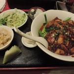 四川厨房 随苑 - ランチの汁なし麻婆麺セット