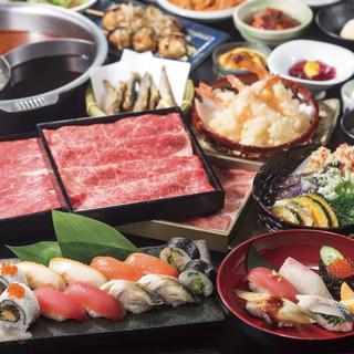 お寿司、逸品料理、デザート…etcメニューが食べ放題