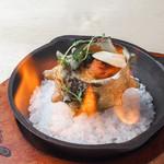 栄螺のオーブン焼き 雲丹のバターソース