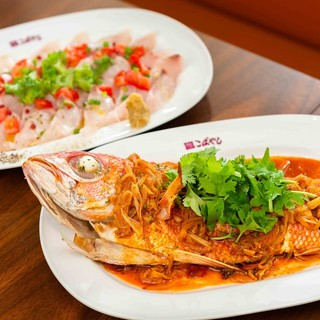 お魚1本ご注文で2種類の料理が楽しめます!!