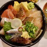 丼 万次郎 - 小田原地魚漬丼 950円