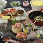 網元料理 徳造丸 - 金目鯛焼魚と刺身膳