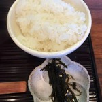 岡崎 二橋 - ひとくちごはん 昆布の佃煮付き