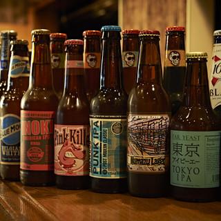 【80種類以上の世界各国のビール】