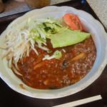87147214 - 肉味噌あんかけ麺¥680