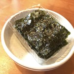 韓国料理 鄭家 - お通しの韓国海苔