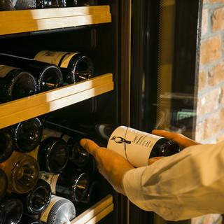 料理とワインのマリアージュにこだわる