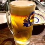 アイニティ - 「黒泡ちゃんビール」(400円)。