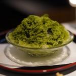 柳橋焼にく わにく - 抹茶かき氷☆