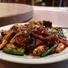 清香園 - 料理写真:薄切り牛肉の黒豆味噌炒め